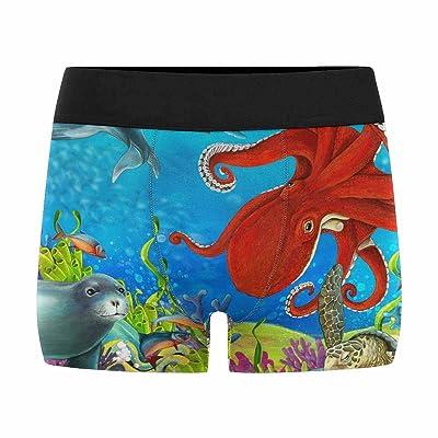 InterestPrint Mens Boxer Briefs Underwear Coral Reef (XS-3XL)