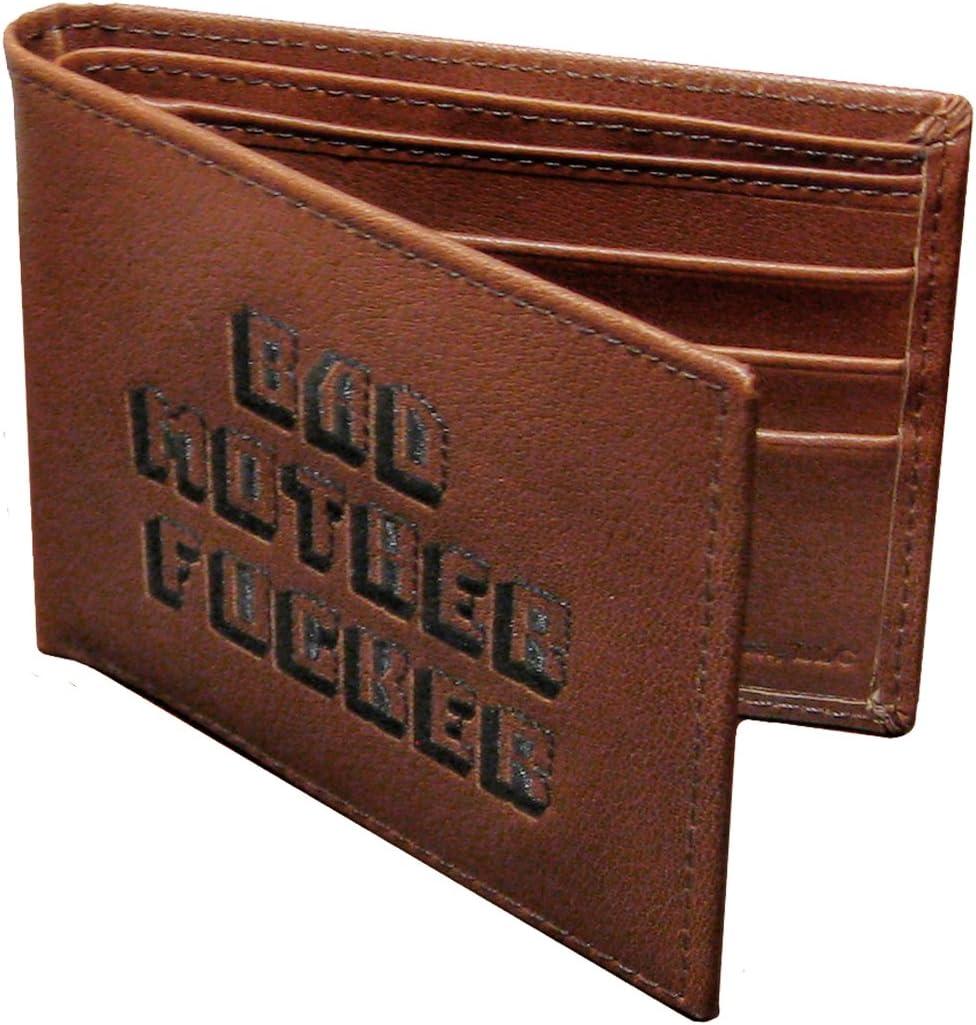 Pulp Fiction Billetera de cuero bordada