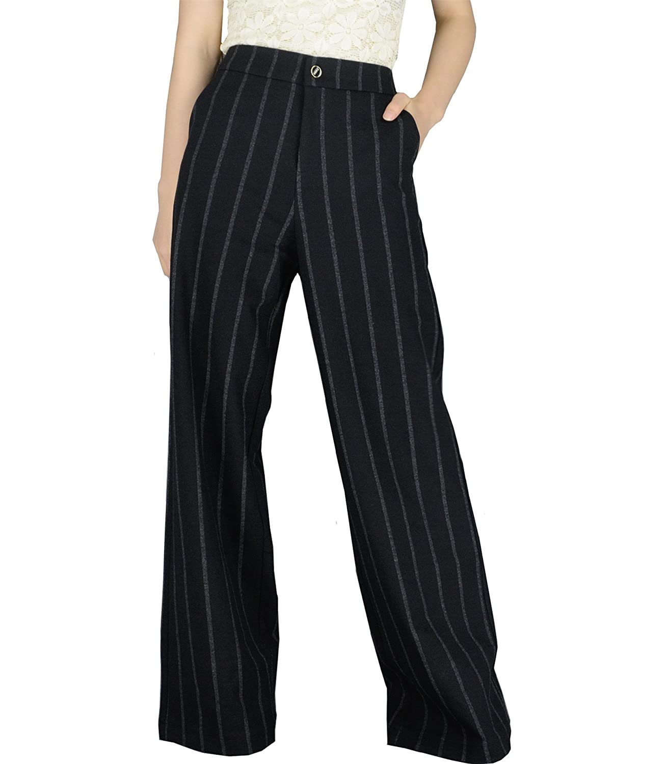 YSJ Women's High Waisted Wide Leg Long Palazzo Pants 42.5-inch Plus Size Available SEM656