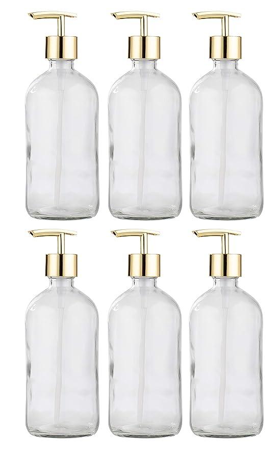 Amazon.com: Dispensador de jabón de mano de cristal Juvale ...