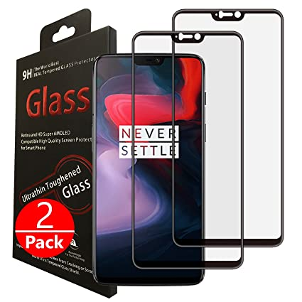 huge discount 3e619 950ba Tektide Screen Protector Compatible for Oneplus 6, [Edge to Edge Coverage]  Drop-Protection Shatter-Proof Safety Laminated Tempered Glass Screen ...