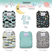 Thirsties Package, One Size All In One Hook & Loop, Sweet Dreams