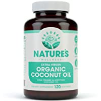 Organic Coconut Oil 2000mg - Healthy Skin, Nails, Weight Loss, Hair Growth – Extra...