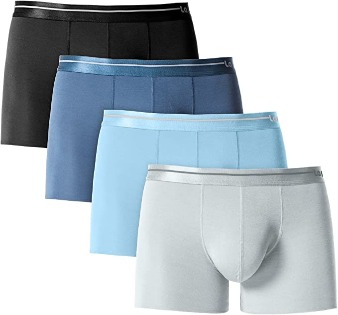 DAVID ARCHY Mens 3 Pack Micro Modal Seamless Underwear Breathable Trunks No Fly