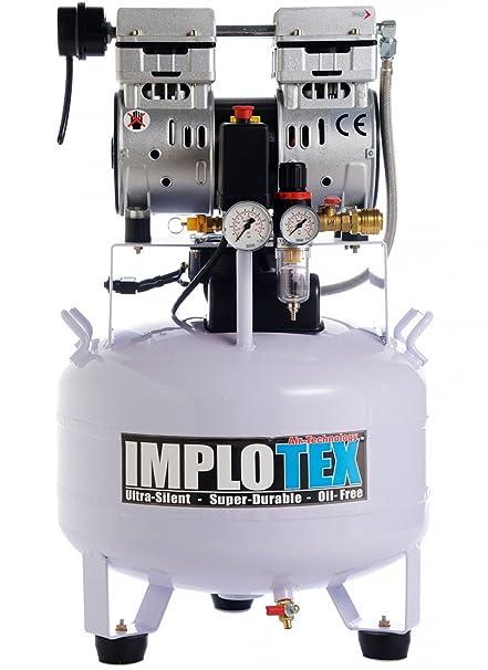 IMPLOTEX - Compresor de aire, silencioso, solo 55 dB, sin aceite