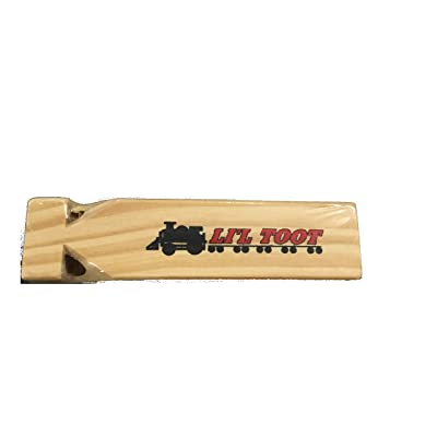 """7"""" WOODEN TRAIN WHISTLE: Toys & Games"""