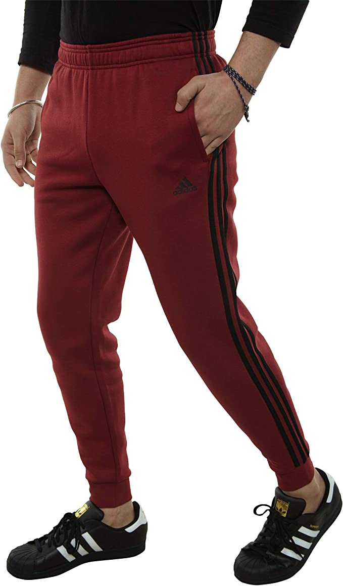 adidas pants 3 stripes red