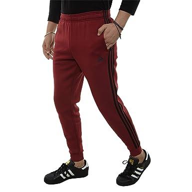 1a698d608 adidas Men's Essentials 3-Stripes Jogger Pants Noble Maroon/Black Small 31