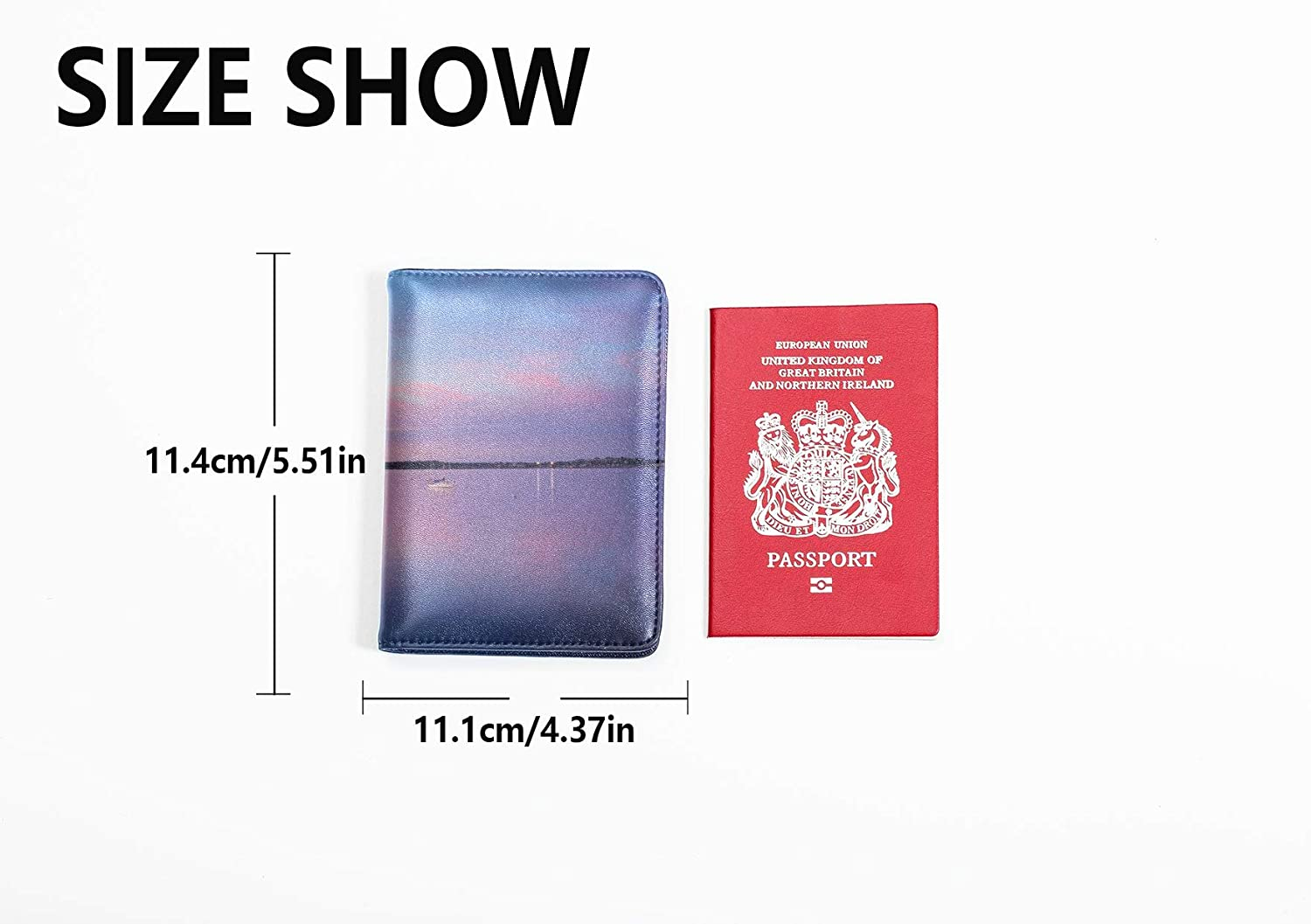 Cartoon Passport Cover Dreamy Beautiful Photography Pink Lake Passport Holder Cover Pack Multi Purpose Print Passport Cases For Men Travel Wallets For Unisex 5.51x4.37 Inch