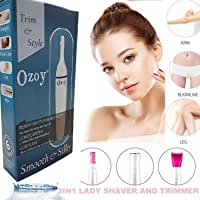 Ozoy trimmer for woman bikini cordless epilator face facial hair underarm area multi grooming kit body waterproof women trimmer for private part hair removal and shaver face eyebrow (Trimmer)