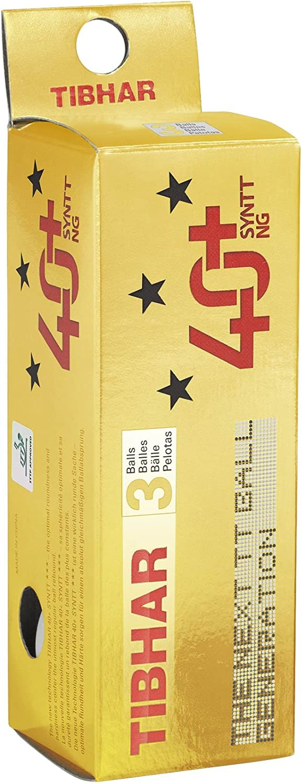 Tibhar SYNTT NG 40+ 3 Star - Pelota de Tenis de Mesa (3 Unidades), Color Naranja