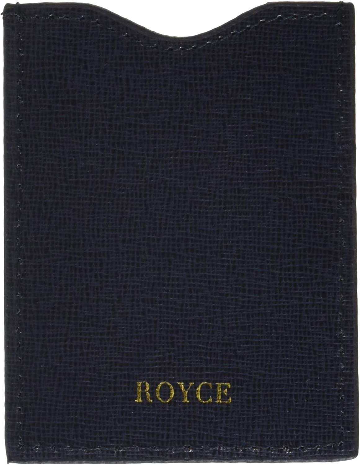 One Size Blue Royce Leather RFID Blocking Credit Card Sleeve in Saffiano Leather