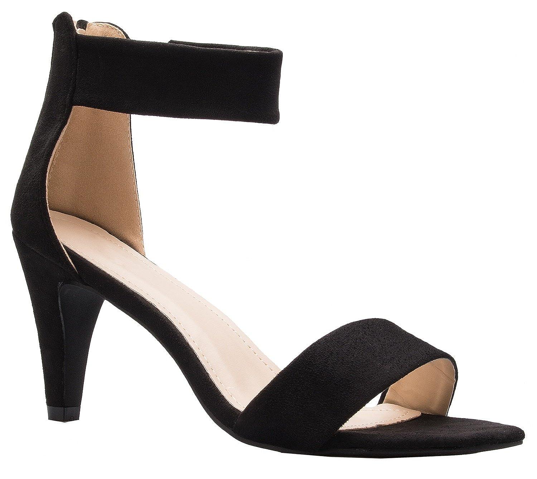 Amazon.com  OLIVIA K Women s Open Toe High Heel Ankle Strap Sandal  Shoes