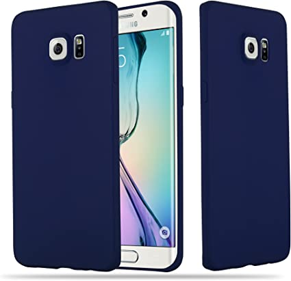 Cadorabo Coque pour Samsung Galaxy S6 Edge en Candy Bleu FONCÉ - Housse Protection Souple en Silicone TPU avec Anti-Choc et Anti-Rayures - Ultra Slim ...