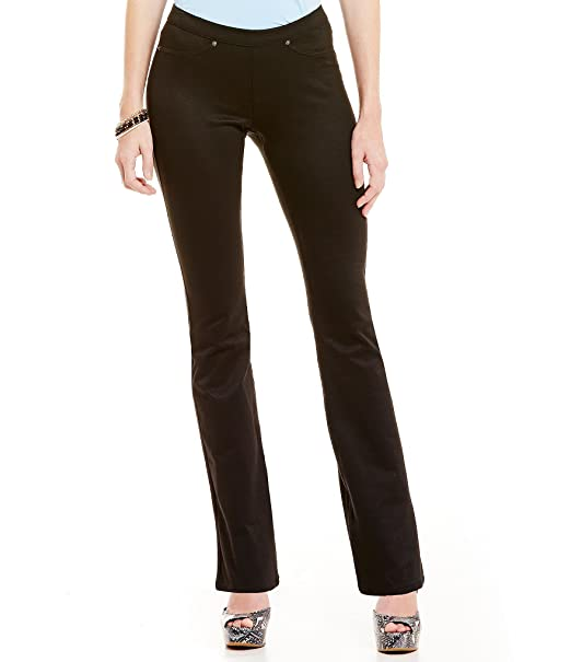 299d9c5dc36dc Hue Women's Luster Twill Bootcut Leggings (Large, Black): Amazon.ca ...