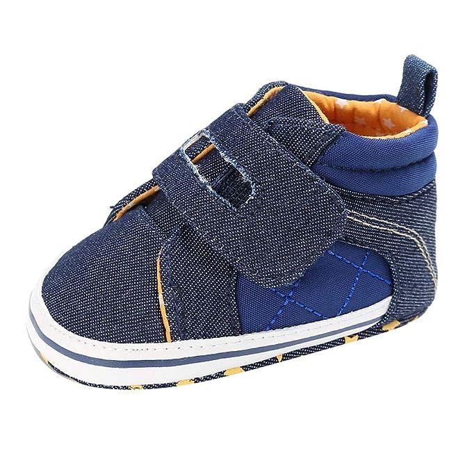 YanHoo Zapatos de bebé de Fondo Suave para niños pequeños Baby Toddler Boys Denim Zapatos de Cuna Lindos Prewalker Prewalker Soft Sole Shoes Zapatos niño ...