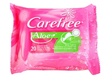 CAREFREE INTIMATE WIPES ALOE 20