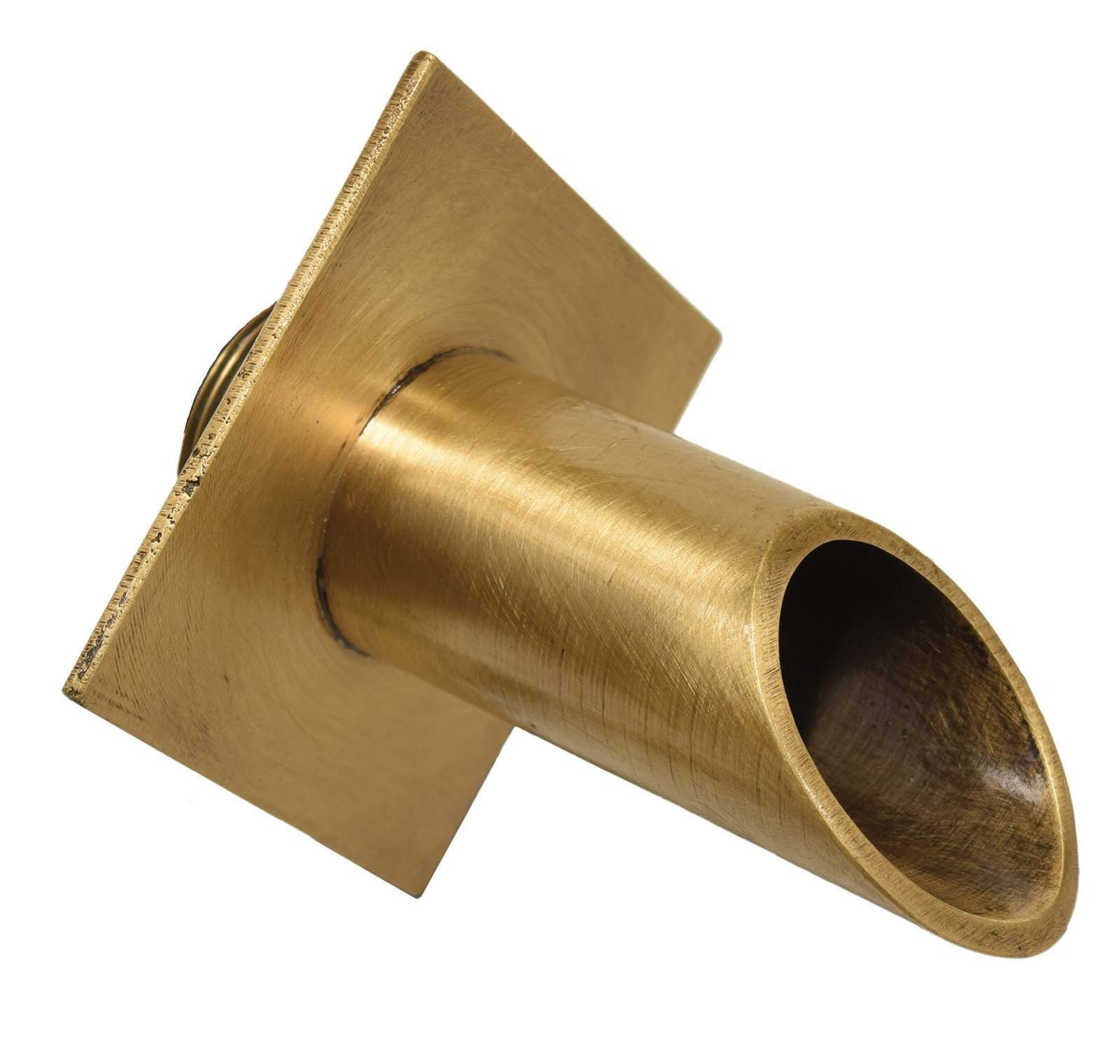 EasyPro Pond Products Vianti Falls Brass Round Scupper with Diamond Wall Plate, 2''