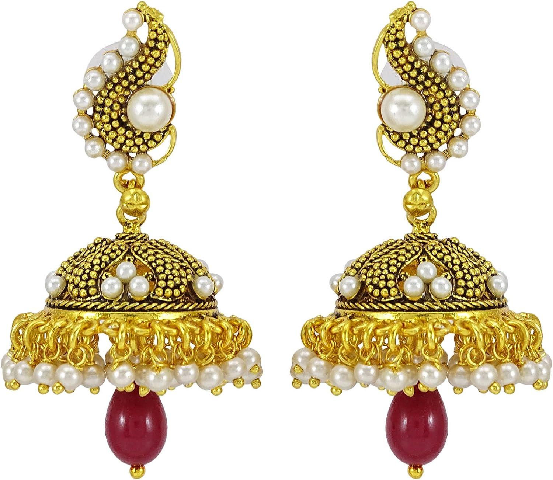 Banithani Gorgeous 925 Sterling Silver Faux Pearl Stud Earrings Women Fashion Jewelry
