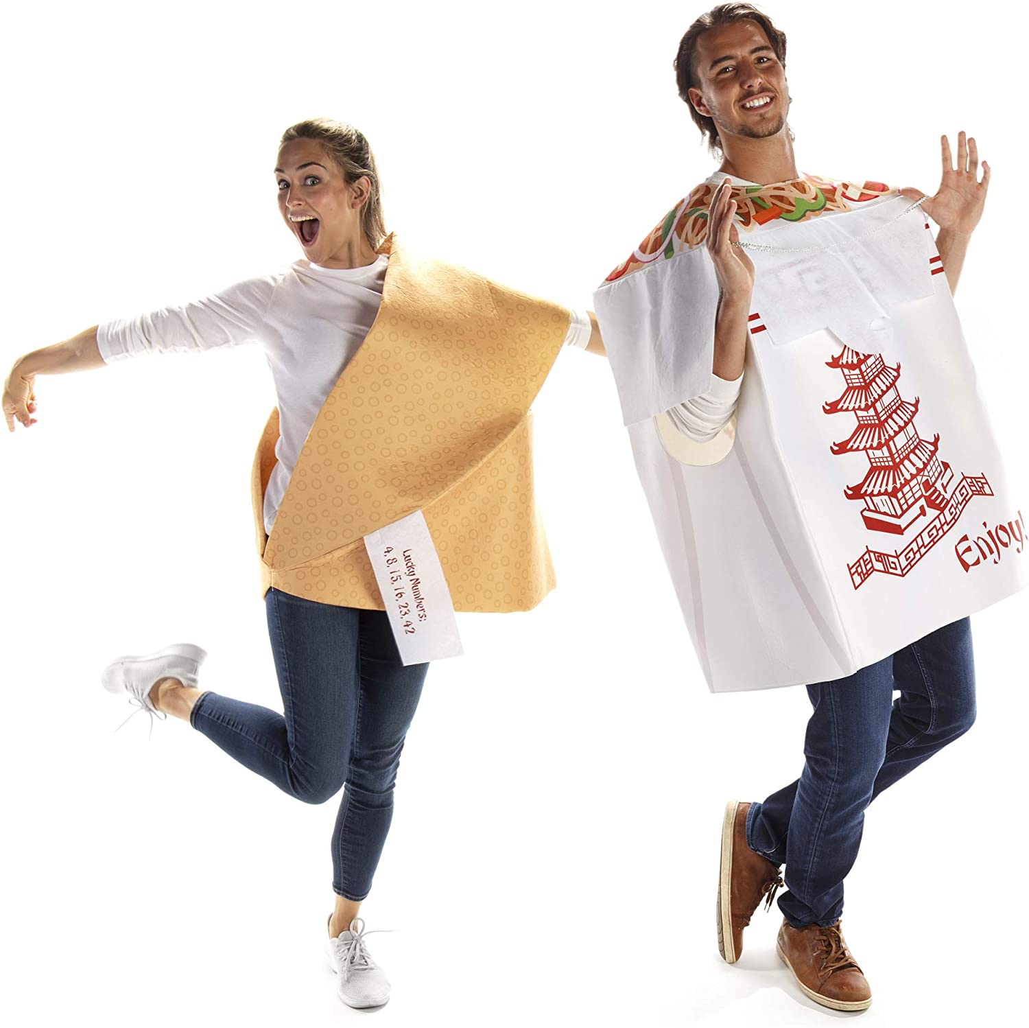 Chinese Take Out & Fortune Cookie Couples Halloween Costume - Food & Noodle Outfit