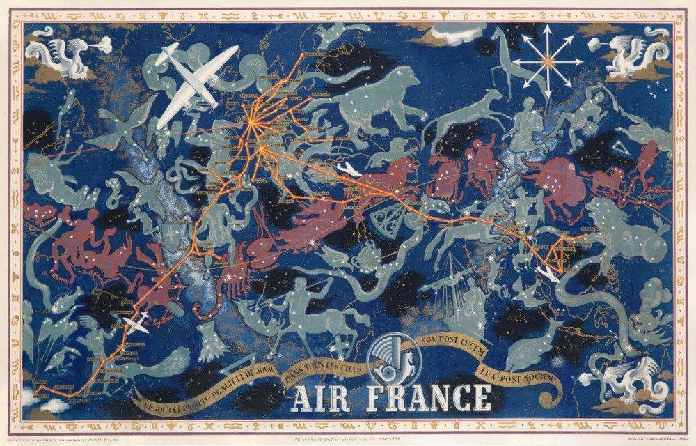 即日発送 エアフランス – De Jour Et de B01MPVLXL3 nuitヴィンテージポスター(アーティスト: de Boucher 36 )フランスC。1938 36 x 54 Giclee Print LANT-58947-36x54 B01MPVLXL3 36 x 54 Giclee Print, ハイカラ横丁:88133164 --- arianechie.dominiotemporario.com