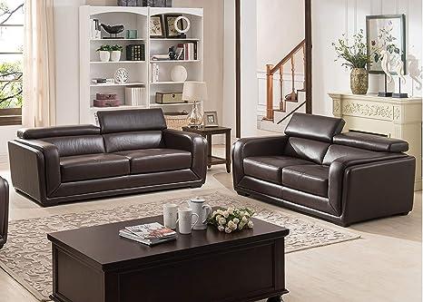 Amazon.com: HomeRoots Furniture 302872-OT 2 Piece Dark Brown ...