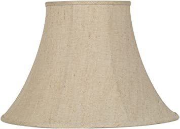 Ivory Bell Linen Lamp Shade 9x19x12 5 Spider Springcrest Lampshades Amazon Com
