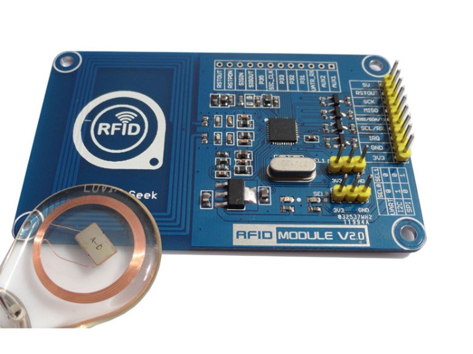 Hobbypower Pn532 NFC RFID Reader/Writer Shield Breakout Board Module Compatible Arduino