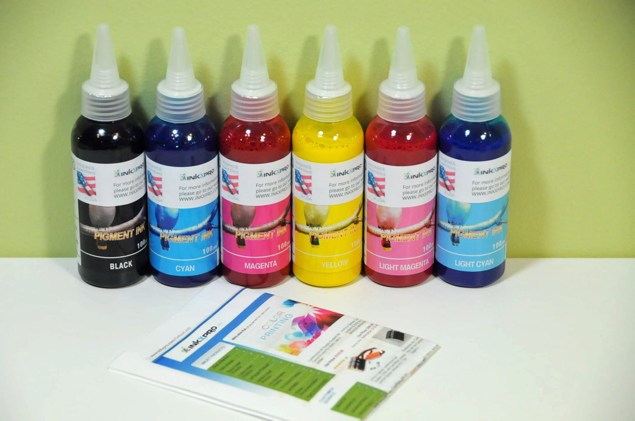 INKXPRO Brand 6X100ml True Color Pigment Ink Refills for Artisan 1430, Stylus Photo 1400 All-in-one Printer