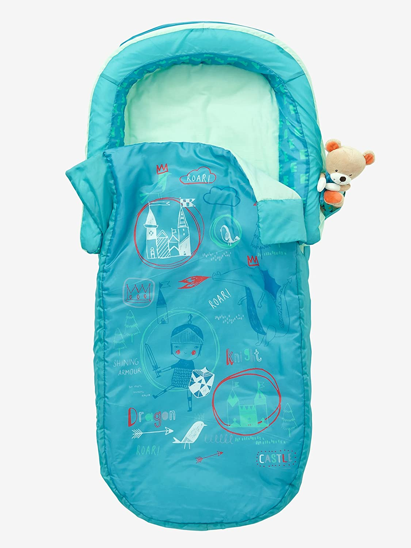 Vertbaudet Saco de dormir Caballero con colchón integrado + cabecero de cama Verde Estampado Caballero UNICA: Amazon.es: Hogar