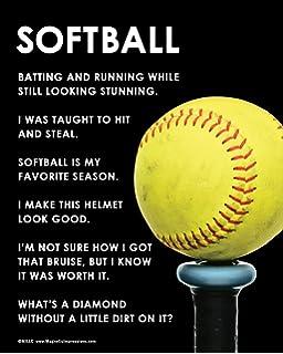 softball sayings for posters