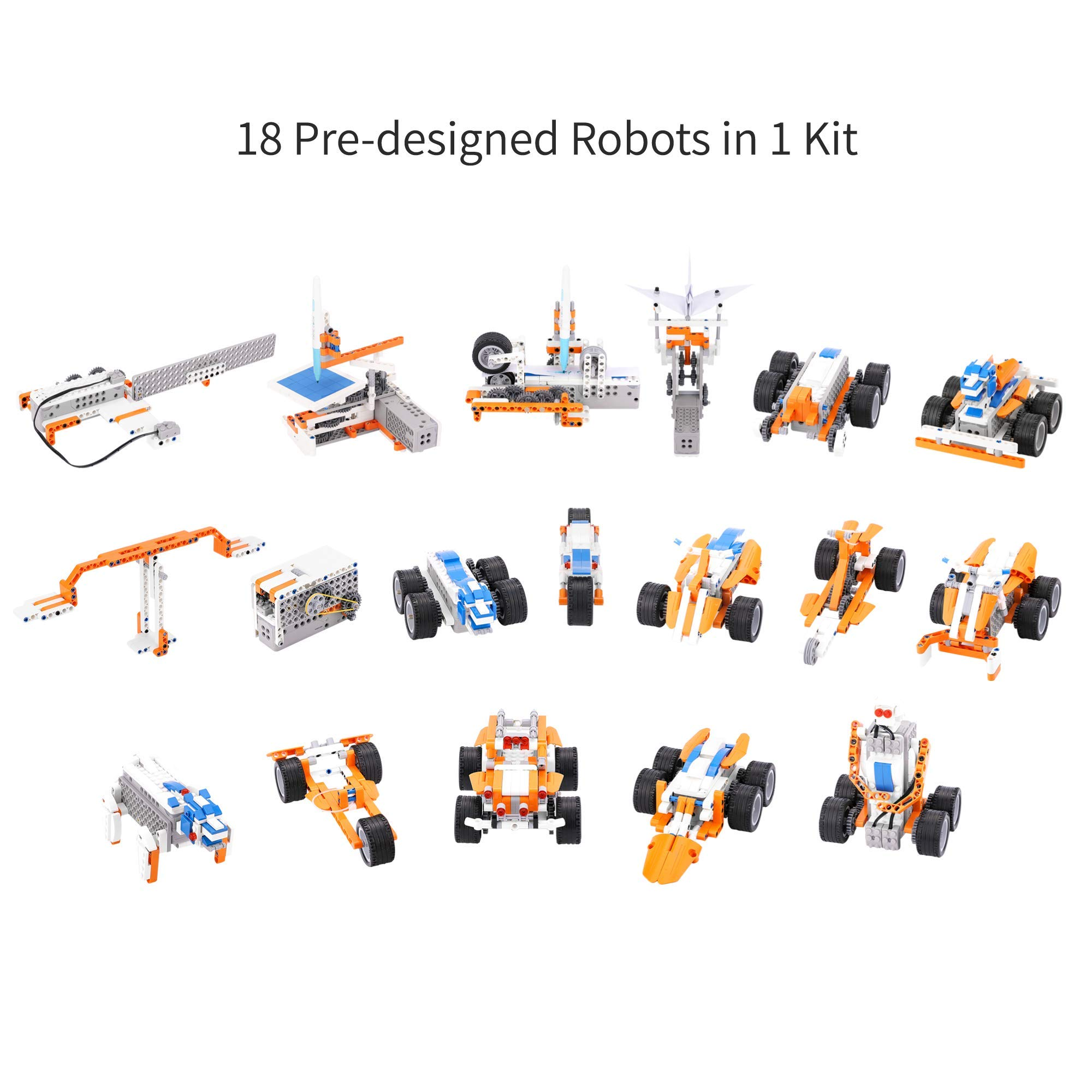 Apitor SuperBot, Educational Building Block 18 in 1 Robot Kit, APP Remote Control, STEM Coding Learning Toy, Ideal Gift for Kids 8+, Compatible with Major Building Block Toys (400+ Pieces) by Apitor Technology Co., Ltd. (Image #2)