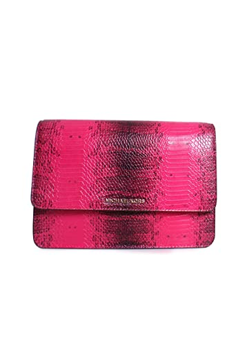 48895e54a620 Michael Kors Large Gusset Snakeskin Crossbody ULTRA PINK  Handbags ...