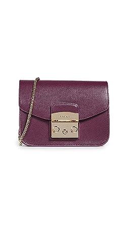 0524e6b85 Furla Women's Metropolis Mini Crossbody Bag, Armanto, Red, Purple, One Size