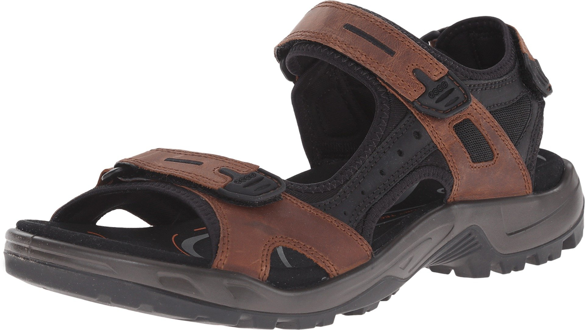 ECCO Men's Yucatan Sandal,Bison/Black/Black,41 EU (US Men's 7-7.5 M)