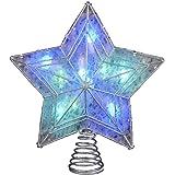 Kurt Adler UL 10-Light LED Color-Changing Star Treetop