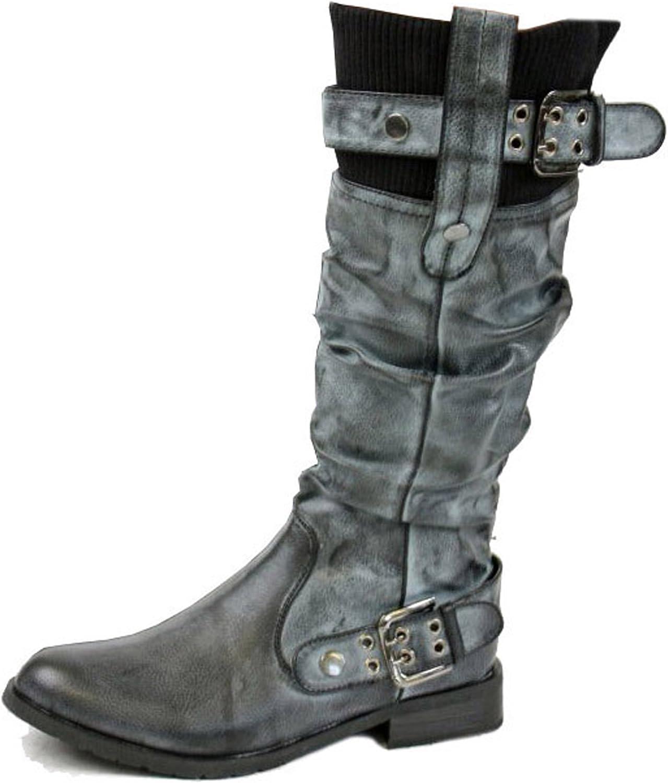 flat biker style boots store 0dede f4a07