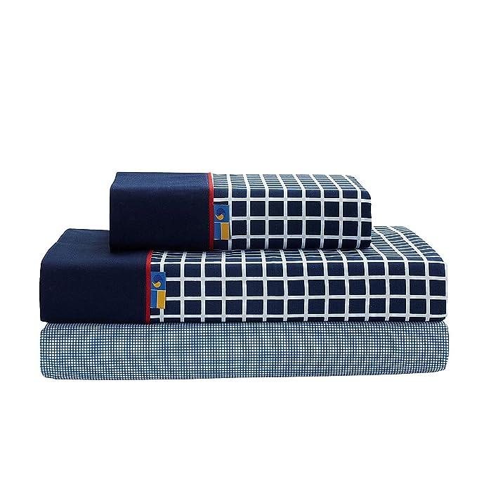 SABANALIA - Juego de sábanas Estampadas Shirt (Disponible en Varios tamaños y Colores), Cama 180, Azul: Amazon.es: Hogar