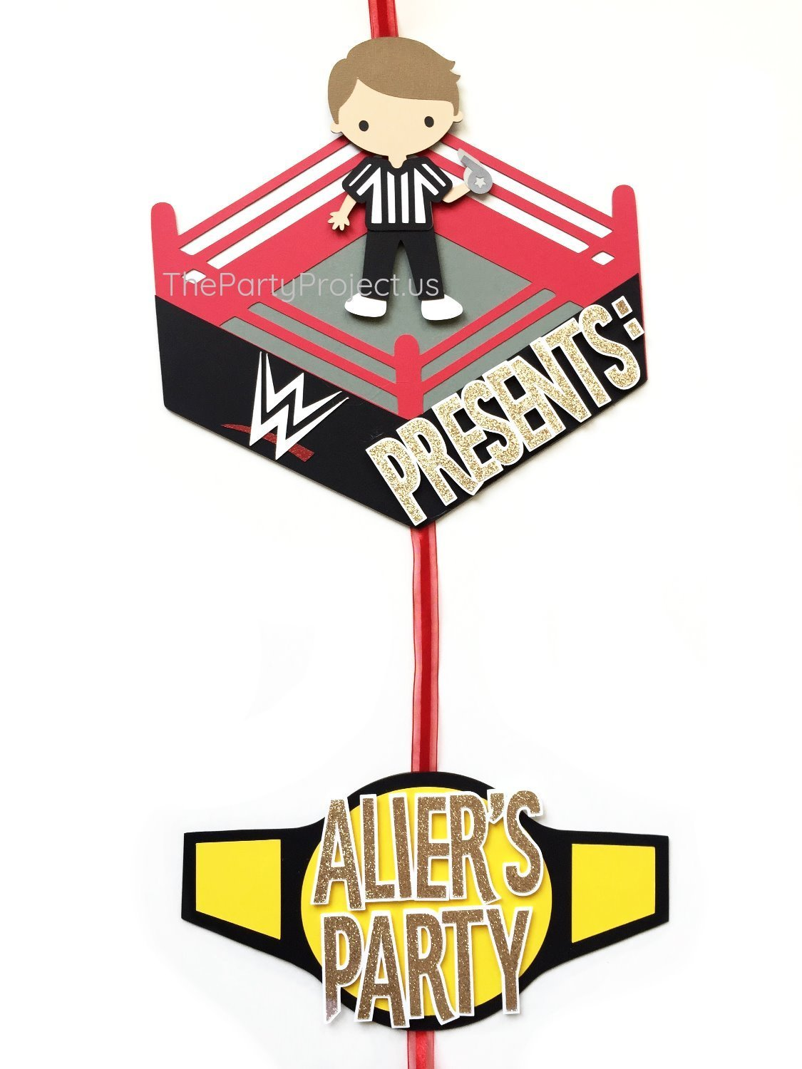Amazon.com: Wrestling Door Sign | WWE Themed party welcome banner ...
