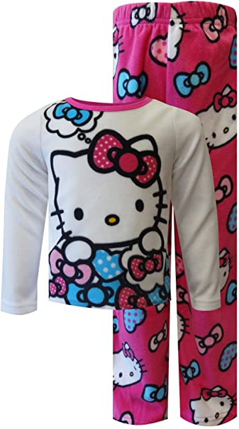 8c65d2764 Amazon.com  Hello Kitty Toddler Girls White   Pink Printed 2pc Micro ...