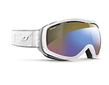 add51fe32e0a9b Julbo Elara Masque de Ski avec écran REACTIV Photochromique et polarisant  Femme, Gris, L