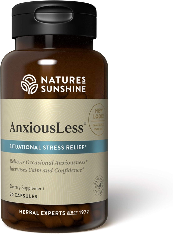Nature's Sunshine AnxiousLess 30 Capsules