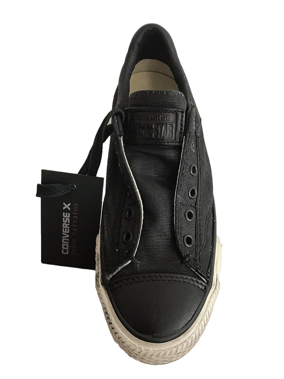 0c6be8e38417 Converse X John Varvatos Unisex Chuck Taylor Burnished Slip on Black (6  B(M) US Women   4 D(M) US Men)  Amazon.co.uk  Shoes   Bags