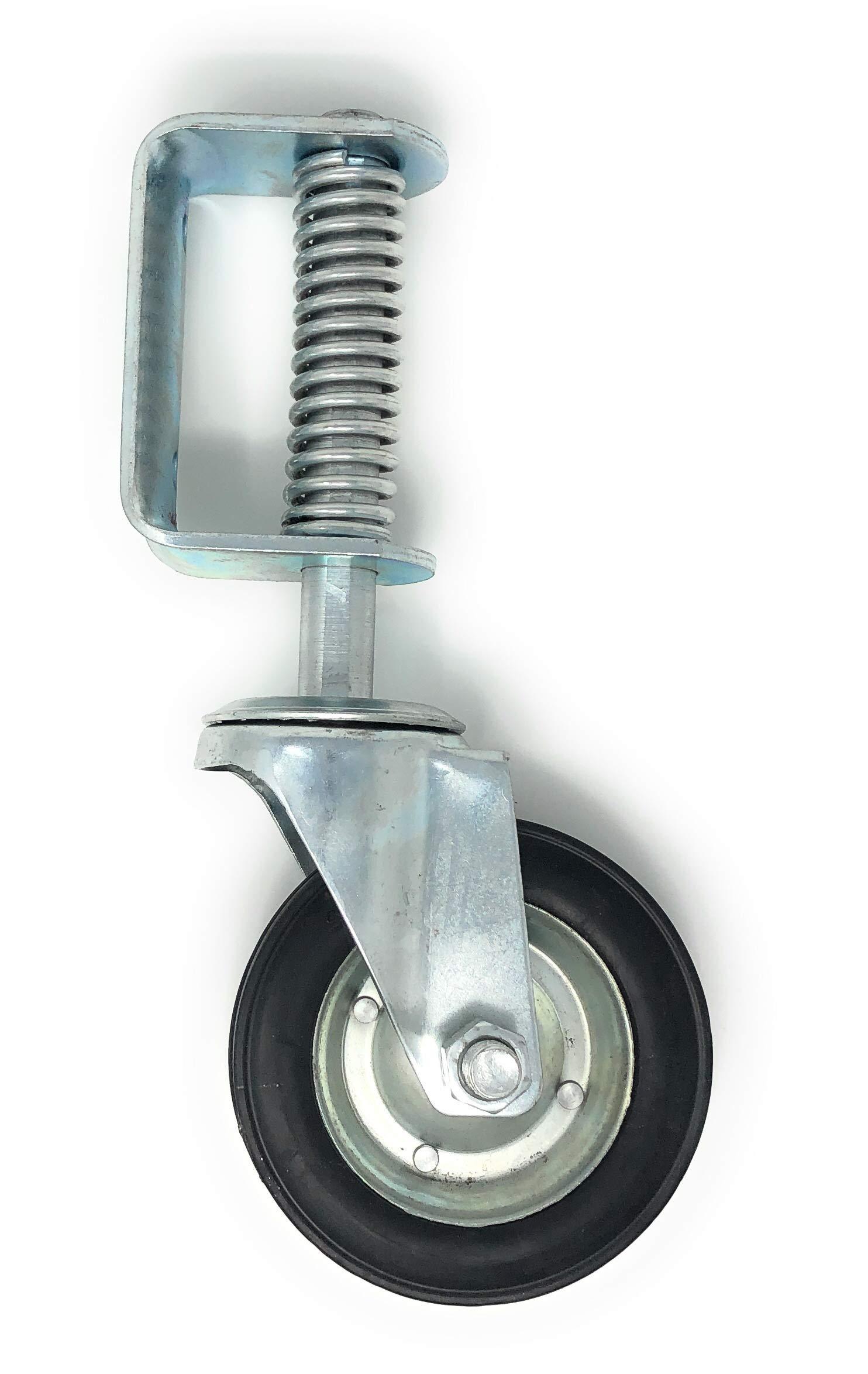 New 6 Inch Spring Loaded Swivel Wheel Heavy Duty 14'' Overall Height by FenceSmart4U