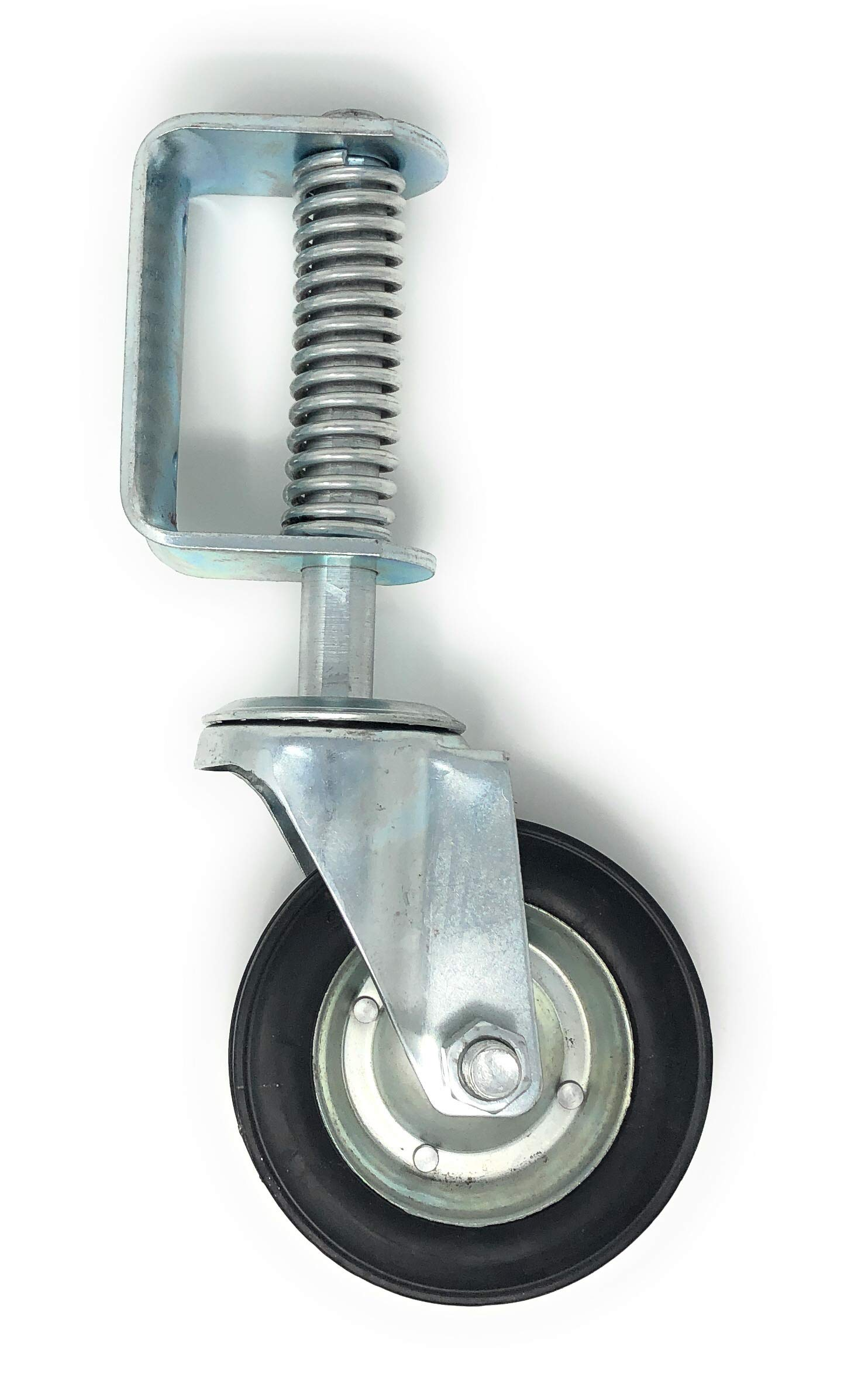 New 6 Inch Spring Loaded Swivel Wheel Heavy Duty 14'' Overall Height by FenceSmart4U (Image #1)