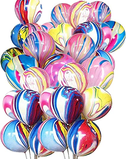 Happy Birthday Decorations Gradient Balloons Rainbow Colorful Birthday Banner Agate Balloons Star Balloons Birthday Party Supplies