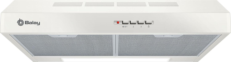 Balay 3BH263MB Telescópica o extraplana Blanco 350m³/h D - Campana (350 m³/h, Canalizado/Recirculación, E, E, C, 72 dB)