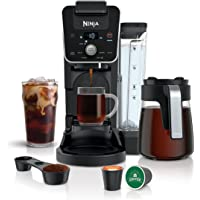 Ninja CFP201 DualBrew System 12-Cup Drip Maker with Glass Carafe, Single-Serve for Coffee Pods or Grounds, with 3 Brew…