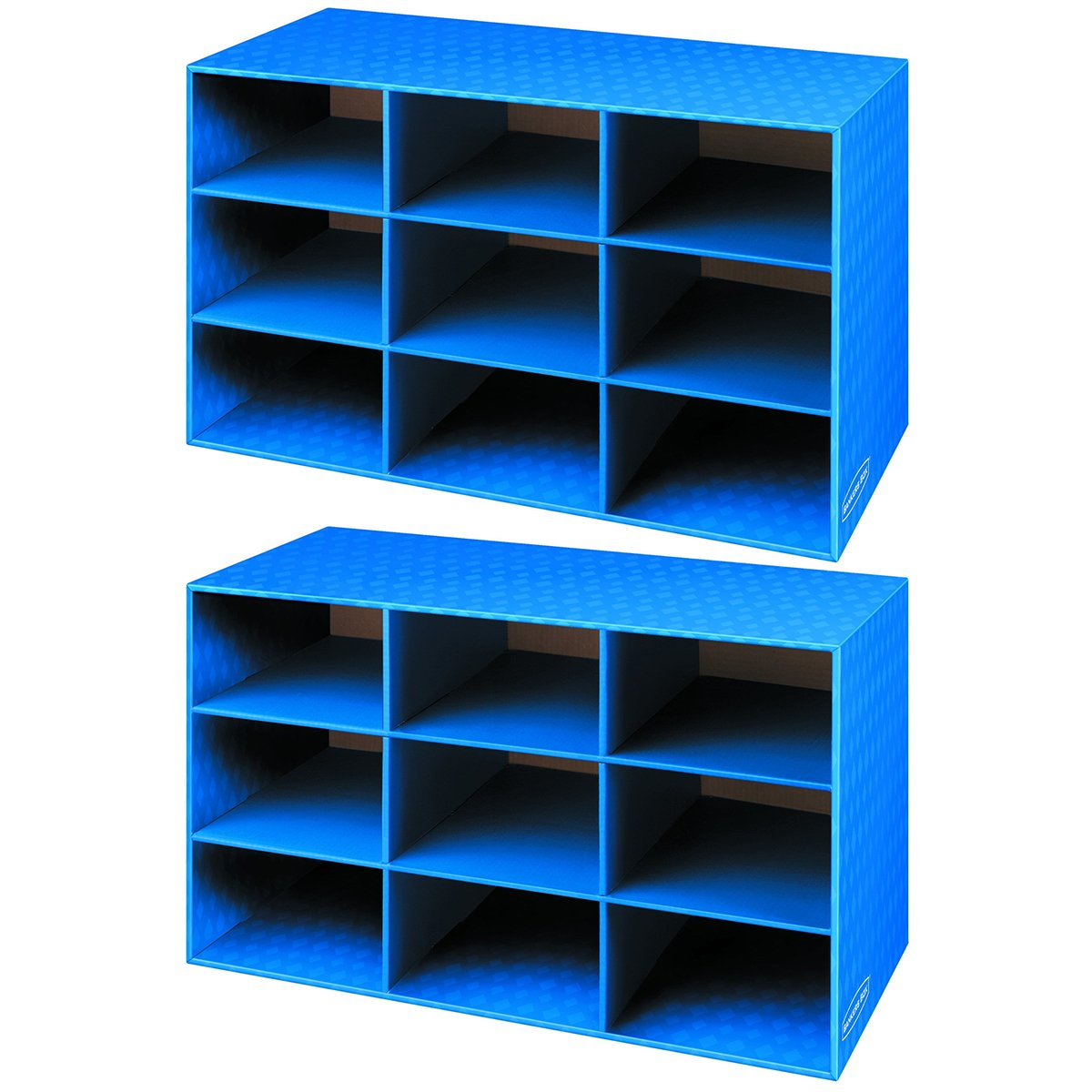 Bankers Box Classroom 9 Compartment Cubby Storage, 2 Pack