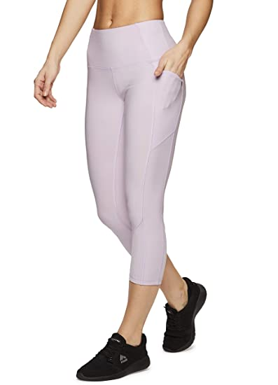 2541b35dc1740 Image Unavailable. Image not available for. Color: RBX Active Women's  Ribbed Pocket Running Yoga Capri ...